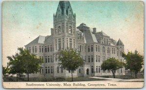 Georgetown, Texas Postcard SOUTHWESTERN UNIVERSITY, Main Building 1910s Unused