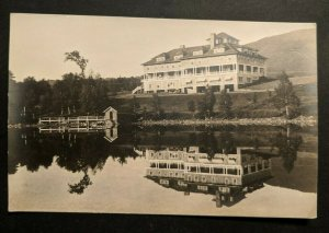 Mint Vintage Hotel Resort Overlooking Lake Near Mountains Real Picture Postcard