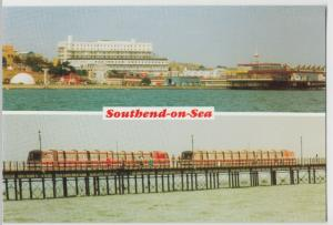 Essex; Southend Pier Train & Peter Pan's Playground PPC By Lynn Tait, Unposted