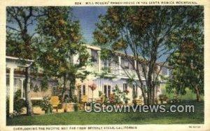 Will Rogers' Ranch House - Santa Monica, CA