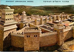 Israel Jerusalem Part Of Famous Reproduction Of City Of Jerusalem 1967