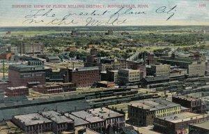 MINNEAPOLIS, Minnesota, 1900-10s; Bird's Eye View of Flour Milling District