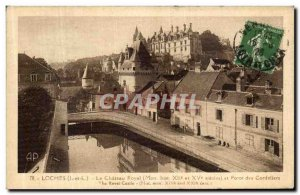 Old Postcard Loches The Royal Castle