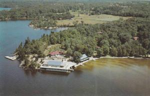 Aerial View of Muskoka Beach Inn, Marine Amusement Building, Lake Muskoka, On...