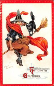 Halloween Post Card Old Vintage Antique Artist Frances Brundage 1913