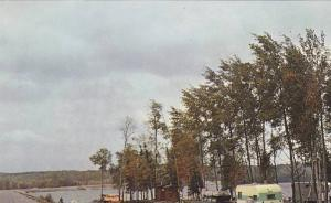 Typical Camping Site at Sand River Beach, Lake Superior, Trans-Canada Highway...