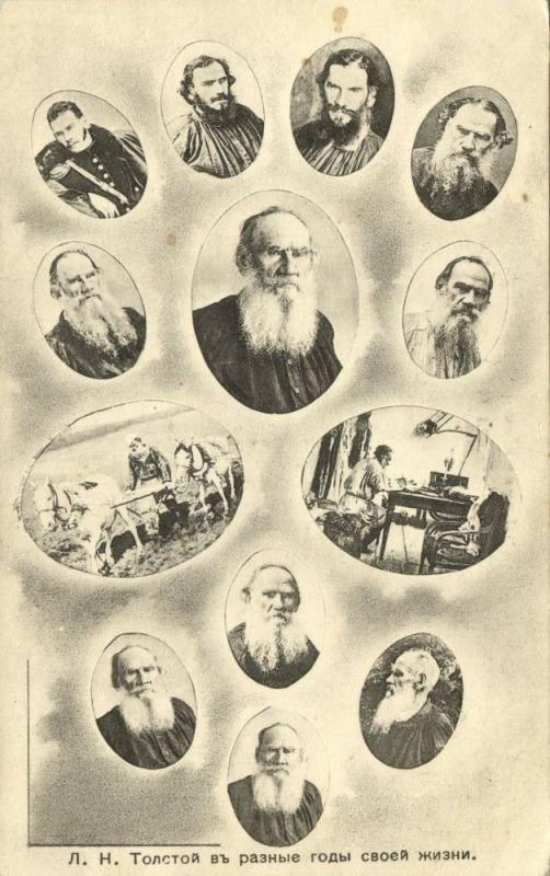 russia, Russian Novelist Leo Tolstoy in Various Stages of Life (1910s)