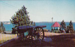 Maine Portland Fort Allen Park Overlooking Harbor