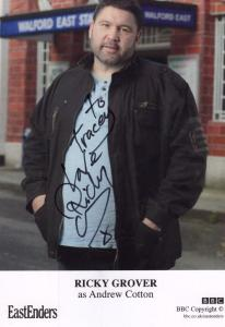Ricky Grover as Andrew Nick Cotton BBC Eastenders Hand Signed Cast Card