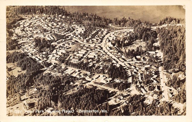 Bremerton Washington~Birdseye West Park Housing Project~Pvt Pytlak~1942 RPPC