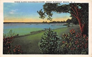 nj-point_pleasant_beach Scene Along Manasquan River 1939