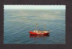 ME Portland Maine Lightship Light Ship Harbor Lighthouse PC