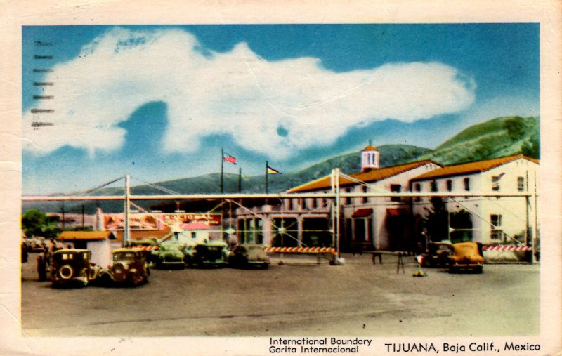 Tijuana, Baja California, Mexico - International Boundary - in 1947