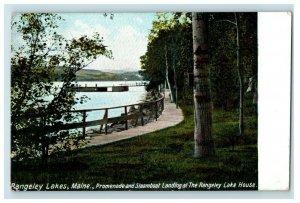 C. 1907 Rengeley Lakes, Maine, Promenade And Steamboat Landing Postcard P41