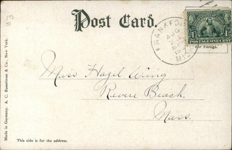 Frankfort MI Great Lakes Steamship Ship ILLINOIS Used c1910 Postcard