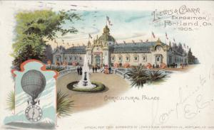 PORTLAND, Oregon, PU-1905; Agricultural Palace, World's Fair