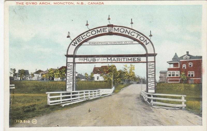 MONCTON, New Brunswick, Canada, 1930s ; Gyro Arch