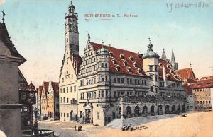 Germany Rothenburg ob der Tauber - Rathaus, Town Hall AK 1910