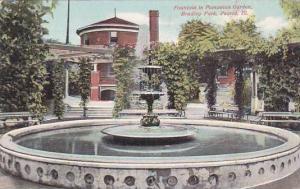 Illinois Peoria Fountain In Pompeian Garden Bradlep Park