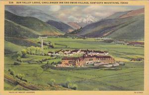 Sun Valley Lodge, Challenger Inn and Swiss Village, Sawtooth Mountains,  Idah...