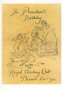 Royal Academy Of Arts 1932 Restaurant Dining Club London Menu Postcard