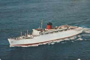 Ship Steamer RMS Franconia (The 1963-1973 Version) - pm 1967 in Bermuda