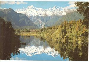 New Zealand, View of Views, Mt. Tasman and Mt. Cook, Westland, 1970s used