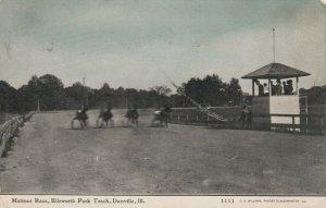 DANVILLE, Illinois, 1909; Matinee Horse Race, Ellsworth Park Track