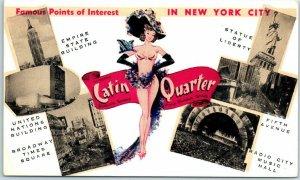 Vintage New York City Postcard LATIN QUARTER Nightclub Times Square NYC c1950s