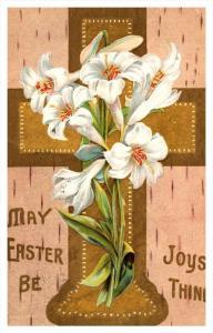 8821  EASTER   Cross/vase flowers