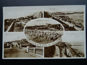 Essex CLACTON ON SEA 5 Image Multiview c1930's RP Postcard