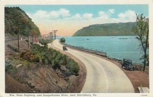 HARRISBURG, Pennsylvania,1910s; Automobile, Wm. Penn Highway & Susquehanna River