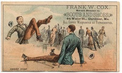 Lewiston, Maine, FRANK W. COX, Boots and Shoes TC, Comica...