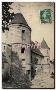 Old Postcard Poissy Abbey Tours I