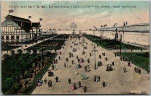 1907 IRISH INTERNATIONAL EXHIBITION Postcard View from Donnybrook Entrance