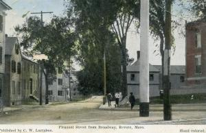 MA - Revere. Pleasant Street from Broadway