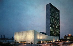 New York City United Nations In The Evening