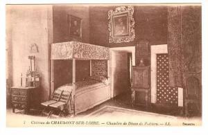 Interior, Chambre De Diane De Poitiers, Chateau De Chaumont-Sur-Loire, France...