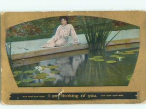 Divided-Back PRETTY WOMAN Risque Interest Postcard AA7966