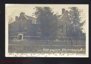 RPPC GRAND FORKS NORTH DAKOTA UNIVERSITY 1910 VINTAGE REAL PHOTO POSTCARD
