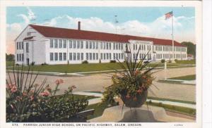Oregon Salem Parrish Junior High School 1945 Curteich
