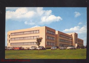 COLUMBIA TENNESSEE MAURY COUNTY HOSPITAL 1960's CARS VINTAGE POSTCARD