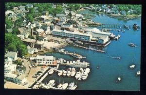 Boothbay Harbor, Maine/ME Postcard, Aerial View Of Harbor