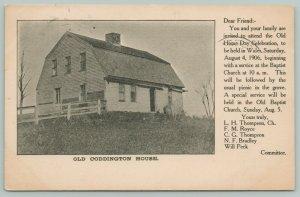 Wales Massachusetts~Old Coddington House~Old Home Day Celebration Aug 4 1906