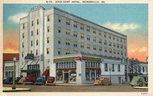 Gainesville, Georgia, GA, Dixie Hunt Hotel, Linen Vintage Postcard g8366
