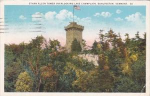 Ethan Allen Tower Overlooking Lake Champlain Burlington Vermont 1925