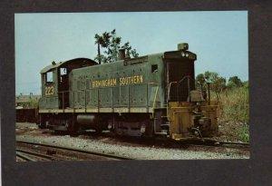 AL Birmingham Southern Railroad Train Locomotive 223 Fairfield Alabama Postcard