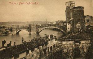 italy, VERONA, Ponte Castelvecchio (1910s) Postcard