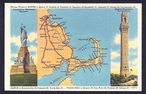 Cape Cod Map & Monuments Massachusetts unused c1940's