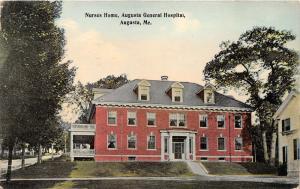 Augusta Maine~Augusta General Hospital-Nurses Home~Curtains in Windows~1921 Pc